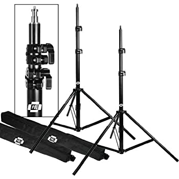 "LIGHT STANDS PRO HEAVY DUTY 7'6"" SET OF TWO, WITH ALL METAL LOCKING COLLARS NOT PLASTIC by PBL"