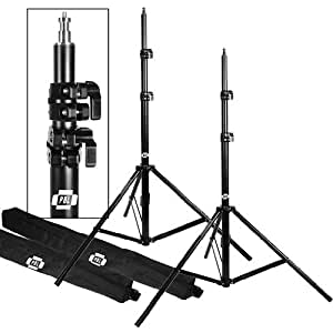 """LIGHT STANDS PRO HEAVY DUTY 7'6"""" SET OF TWO, WITH ALL METAL LOCKING COLLARS NOT PLASTIC by PBL"""