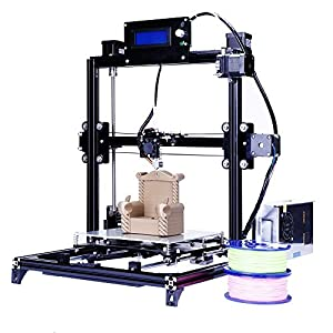 Prusa i3 3d Printer DIY Kit RepRap Type Aluminium Structure with Large 3D Printing Size High Accuracy and stability Heated Bed LCD Display from flsun