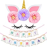 Funarty Unicorn Party Supplies Unicorn Backdrop Party Decorations Happy Birthday Banner