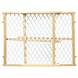Four Paws Wood Locking Gate with Mesh 26, 42 x 24'' H