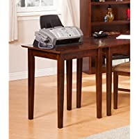 Atlantic Furniture Shaker Walnut Wood Printer Stand