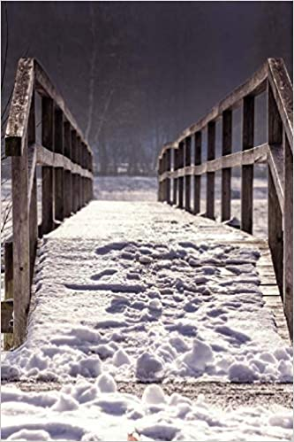 Winter Journal Snow Covered Wooden Bridge Soft Cover Ruled