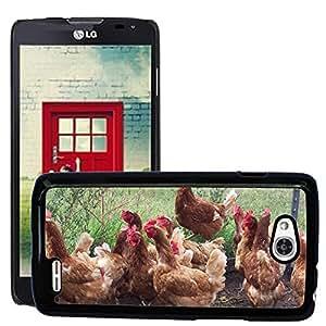 Just Phone Cases Etui Housse Coque de Protection Cover Rigide pour // M00127524 Gallina del pollo de las aves de granja // LG Optimus L90 D415