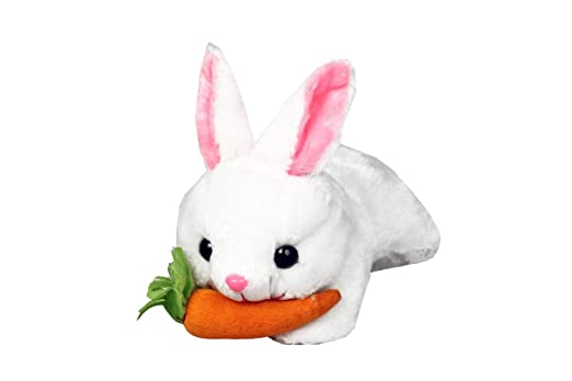 Briltech Cute Rabbit Soft Toy with Carrot White - 11 inch