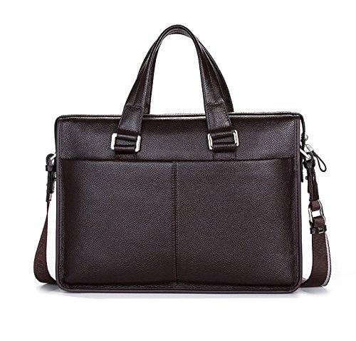 KAXIDY Leather Casual Vintage Mens Business Bags Handbag Satchel Shoulder Bag Messenger Bags