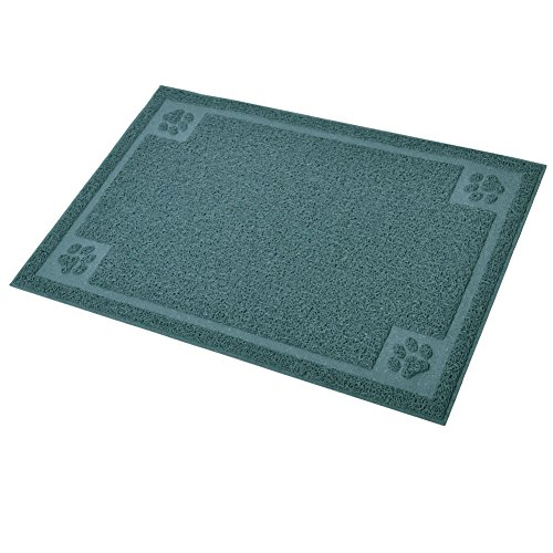Darkyazi Pet Feeding Mat Large for Dogs and Cats,24×16 Flexible and Easy to Clean Feeding Mat,Best for Non Slip Waterproof Feeding Mat. (Silver Blue)
