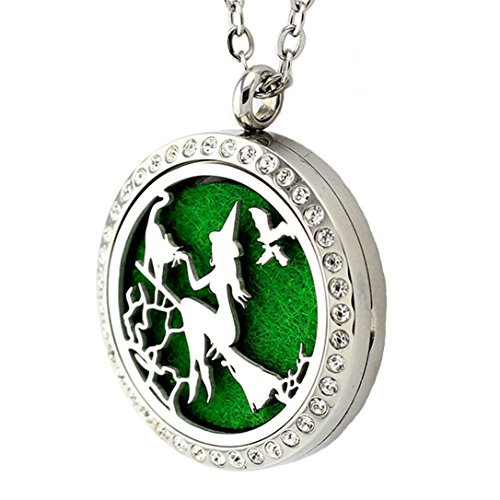 Popeoiuh Essential Oil Diffuser Necklace Aromatherapy Jewelry Christmas