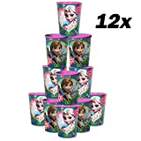 Blue Orchards Frozen 16-Ounce Cups (12), Disney Party Supplies, Frozen Party Tableware, Girls' Birthday Decorations