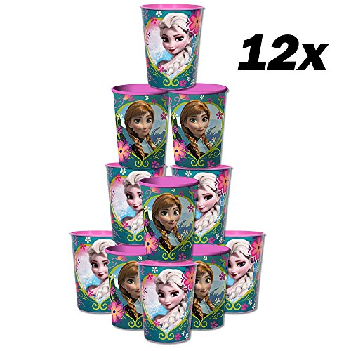 Blue Orchards Frozen 16-Ounce Cups (12), Disney Party Supplies, Frozen Party Tableware, Girls' Birthday Decorations -