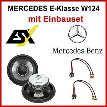 Altavoz de ESX QE120 para Mercedes E-Klasse W124 1984-1997 en la parte delantera: Amazon.es: Electrónica