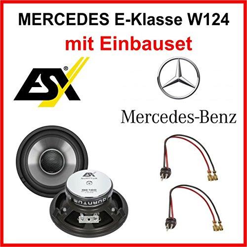 Lautsprecher Set ESX QE120 fü r Mercedes E-Klasse W124 1984-1997 vorne
