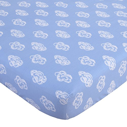 NoJo Cotton Fitted Sheet Clouds product image