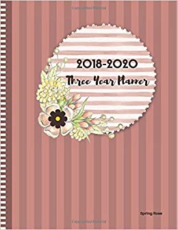 amazon co jp 2018 2020 spring rose three year planner 2018 2020
