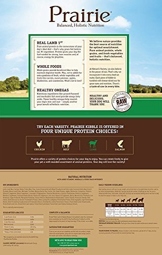 Picture of Prairie Real Lamb & Oatmeal Recipe Natural Dry Dog Food by Nature's Variety, 13.5 lb. Bag