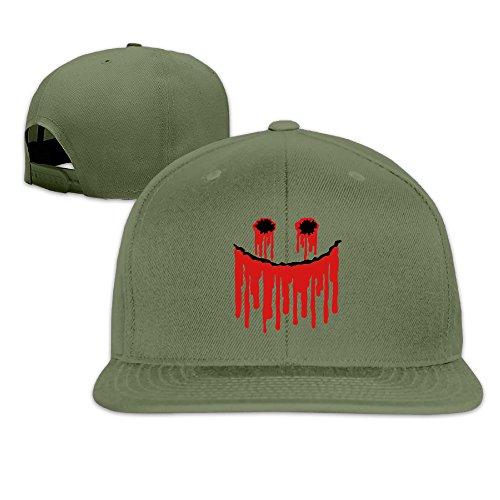 Blood Face Trucker Hat Summer Mesh Baseball Cap With Adjustable Snapback Strap (Halloween Evil Has A Destiny)