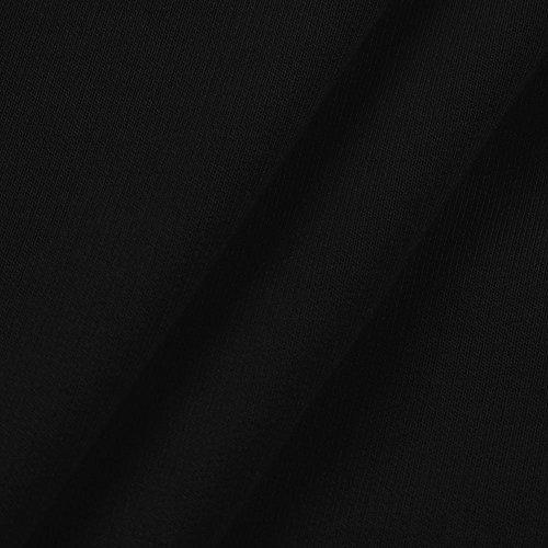 Magliette Nero Giuntura Weant Crop Donna Maniche Blusa Felpe Maglietta Da Pullover Maglia Cappuccio Sexy Elegante Tumblr Con Top Lunghe Ragazza Camicetta Tops Donna Casual Maglione wnvqS1Cw
