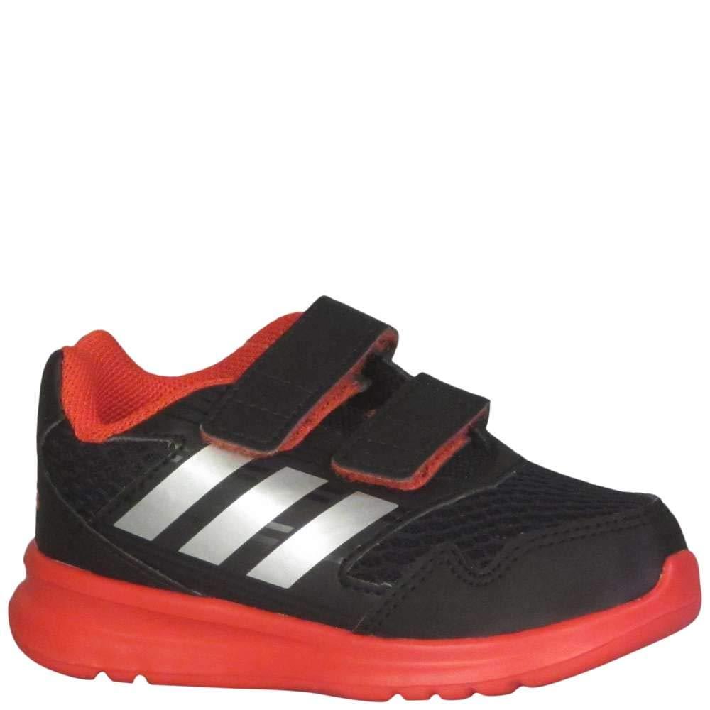 buy online 80a57 f4d17 Galleon - Adidas Originals Boys  Altarun Running Shoe, Black Metallic  Silver Core Red, 7 Medium US Toddler