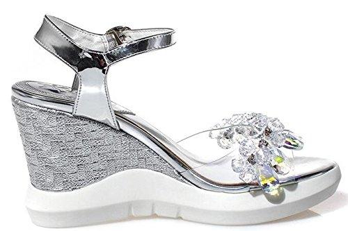 Sandal Women's Laruise Silver Laruise Silver Silver Wedge Women's Sandal Wedge Sandal Women's Wedge Laruise 6qqpYA8w