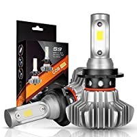 Autofeel Waterproof IP68 Super Bright Car Exterior White Light Built in Driver Lamp All-in-One Conversion Bulb Fog Light with Cool White Lights
