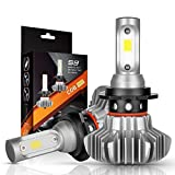 vw auto headlights - H7 LED Headlight Bulbs Autofeel 5000LM IP68Waterproof Super Bright Car Exterior White Light Built-in Driver Lamp All-in-One Conversion Bulb Kit High Low Beam with Cool White Lights - 1 Year Warranty