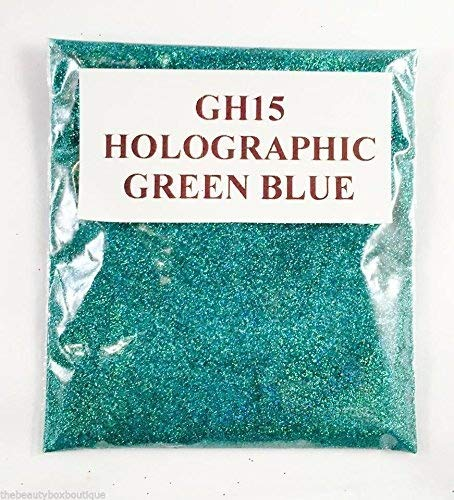 (GH15 - Holographic Green Blue 10g) Cosmetic Glitter Glitter Eyes Glitter Tattoo Glitter Lips Face And Body Bath Bombs Soap NA