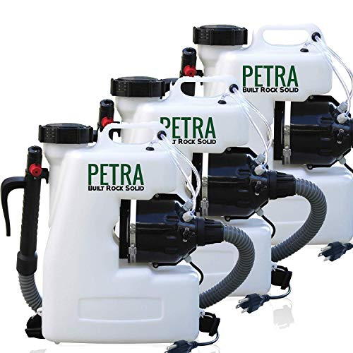 Insects Care Lawn (Petra Mosquito Mist Blower Fogger - 4 Gallon Electric Atomizer Backpack Sprayer with Extended Commercial Hose for Pest Control - Insect, Bug & Lawn Care (3-Pack))