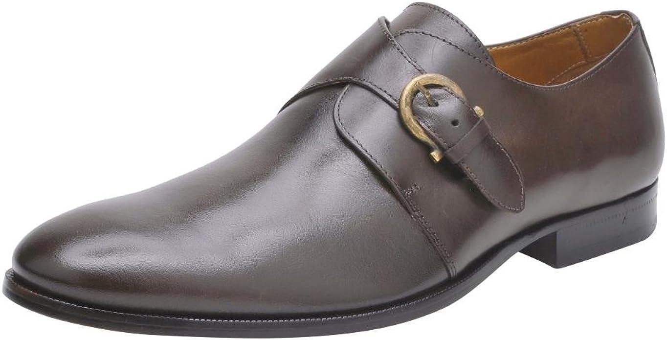 Quads Monk Strap Leather Dress Shoe