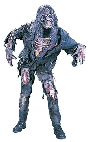 UHC Boy's Zombie 3D Horror Theme Outfit Fancy Dress Halloween Teen Costume, Teen (Zombie Halloween Outfit)