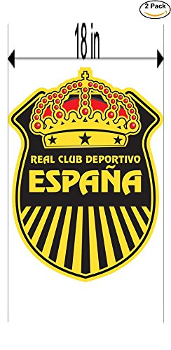 2006 Real Football - real espana 2006 Honduras Soccer Football Club FC 2 Stickers Car Bumper Window Sticker Decal Huge 18 inches