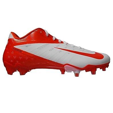 Nike Vapor Talon Elite Low TD Football Cleats (13.5, White/Orange Flash)