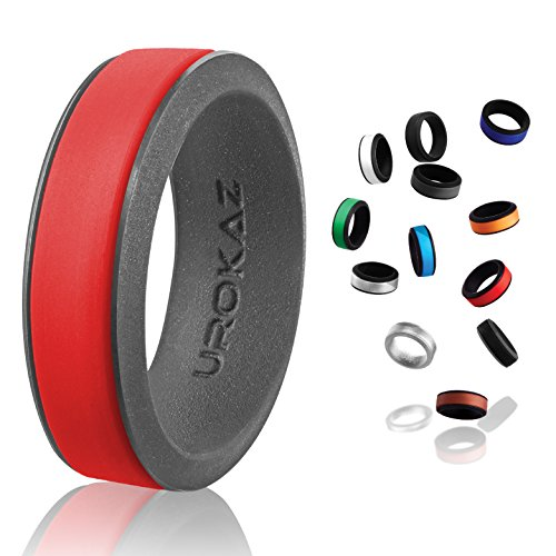 UROKAZ - Silicone Wedding Ring, The Only Ring That Fits Your Lifestyle - Whether You are Single or Married, Ring is Right for You - It is Fashionable, Flexible, and Comfortable]()