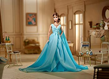 Barbie Fashion Model Collection Blue Chiffon Ball Gown Barbie Doll 8