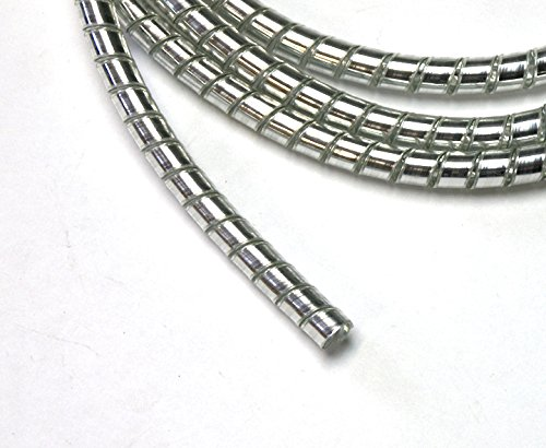 6mm Chrome Spiral Cable Wrap//Wire Tidy