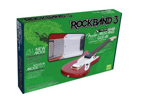Xbox 360 Rock Band Wireless Fender Guitar Controller (Rock Band 3 Wireless Fender Mustang PRO-Guitar Controller for Xbox 360)