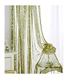 Aside Bside Natural Sheer Window Curtains with
