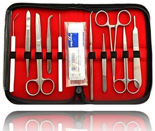 Sezierbesteck para Estudiantes | Disección Mikroskopierset Anatomía | con Escalpelo Sezierschere Pinzas Hoja de Escalpelo: Amazon.es: Industria, empresas y ciencia
