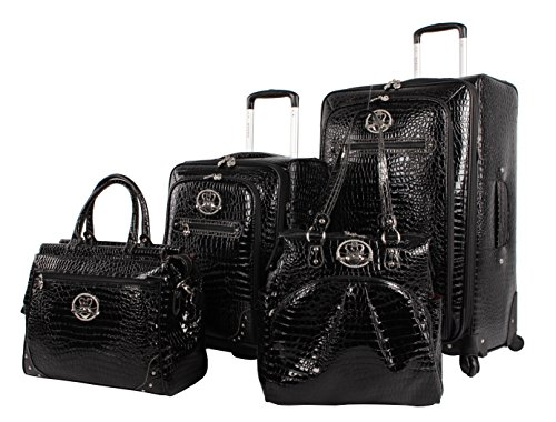 Kathy Van Zeeland Croco PVC Luggage Set 4 Piece Expandable Suitcase with Spinner Wheels (One Size, - Women Vans Cheap
