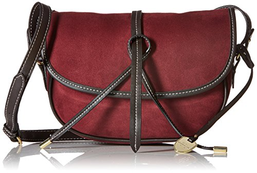 Plum Suede Leather (London Fog Newbury Large Saddle, Plum)