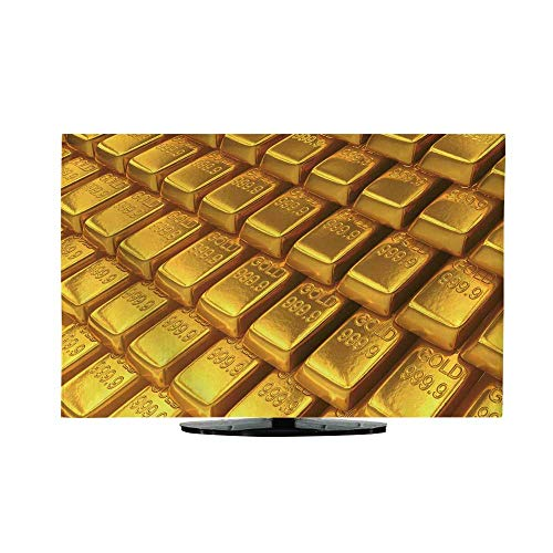 Battery Power Array Cabinet - vanfan Television Protector an Array of Gold Bars Front Flip Top W32 x H51 INCH/TV 55