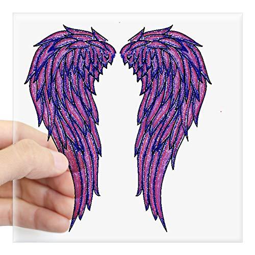 - CafePress Angel Wings Sticker Square Bumper Sticker Car Decal, 3
