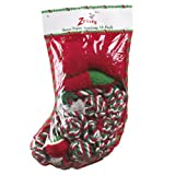 Cheap Zanies Santa Super Stocking Dog Toy, 10-Pack