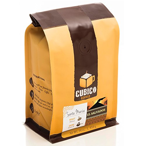 El Salvador Coffee - Ground Coffee - Freshly Roasted Coffee - Cubico Coffee - 16 Ounce (Single Origen Salvadoran Coffee)