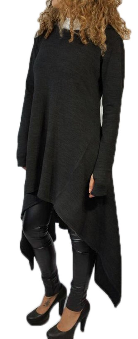 SYTX-women clothes SWEATER レディース B0759V2Z3K US-S|ブラック ブラック US-S