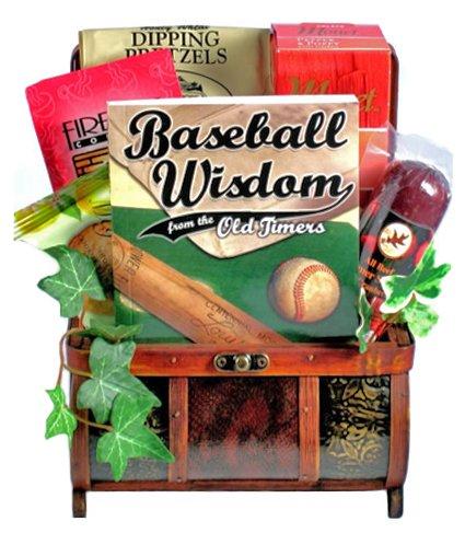Baseball Treasure Chest Fathers Day Gift Basket