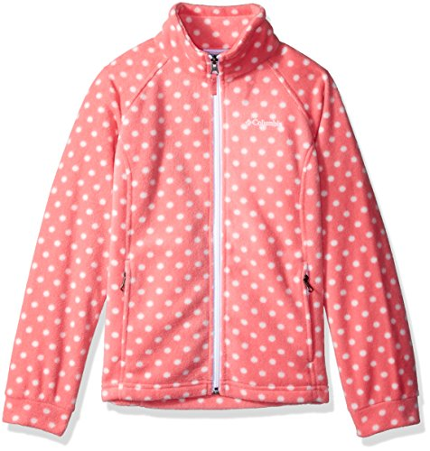 Columbia Little Girls' Benton Springs II Printed Fleece, Lollipop Polka Dot, S (Dot Fleece Polka)