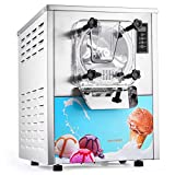 VEVOR 1400W Commercial Ice Cream Machine 5.3Gallon per Hour Hard Serve LED Display Auto Shut-Off Timer Perfect for Restaurants Snack Bar Supermarkets, Sliver