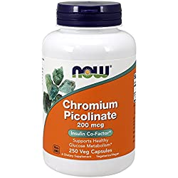 NOW Chromium Picolinate 200 mcg,250 Veg Capsules