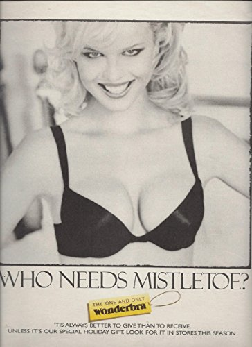 print-ad-for-1995-wonderbra-black-push-up-bra-who-needs-mistletoe