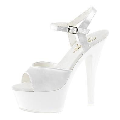 8a5c10871c14e Amazon.com | Summitfashions Womens White Heeled Sandals Blacklight ...
